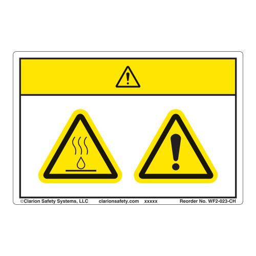 Caution/Burn Hazard Label (WF2-023-CH)
