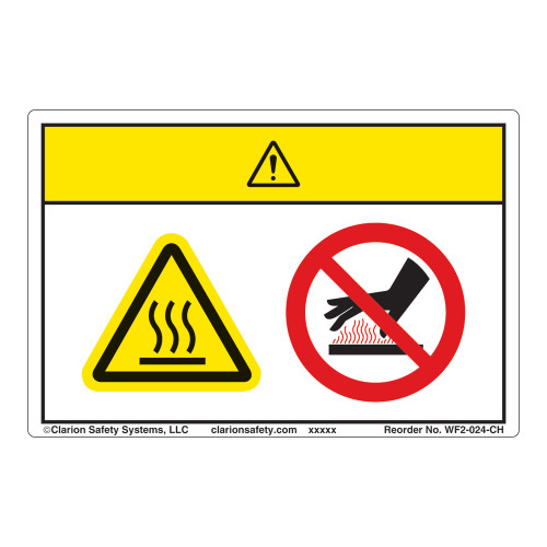 Caution/Hot Surface Label (WF2-024-CH)