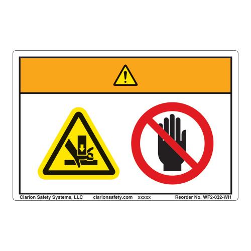 Warning/Crush Hazard Label (WF2-032-WH)