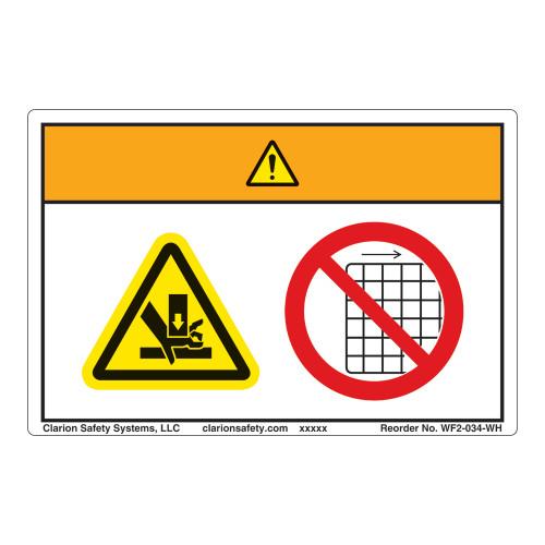 Warning/Crush Hazard Label (WF2-034-WH)