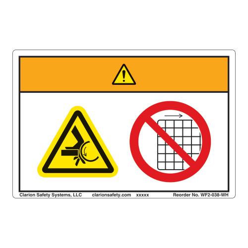 Warning/Crush Hazard Label (WF2-038-WH)