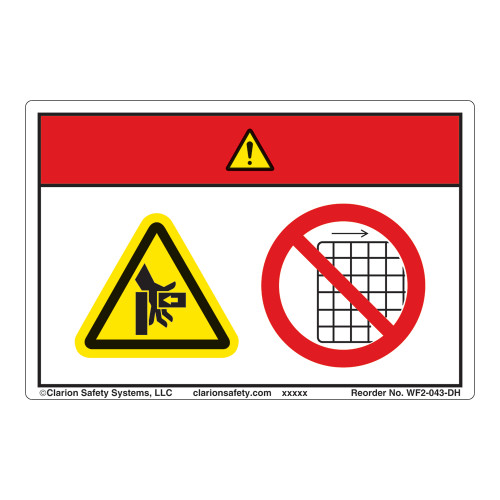 Danger/Crush Hazard Label (WF2-043-DH)