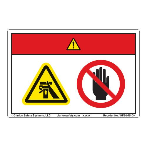 Danger/Crush Hazard Label (WF2-045-DH)