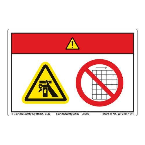 Danger/Crush Hazard Label (WF2-047-DH)