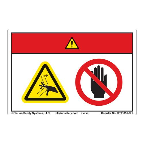 Danger/Crush Hazard Label (WF2-055-DH)