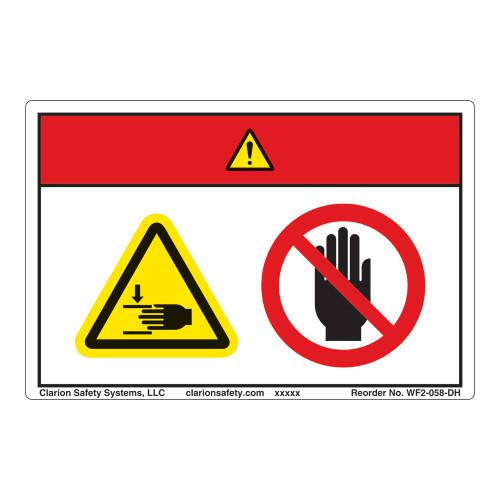 Danger/Crush Hazard Label (WF2-058-DH)