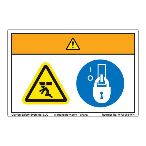 Warning/Crush Hazard Label (WF2-063-WH)