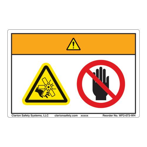 Warning/Rotating Fan Blade Label (WF2-073-WH)