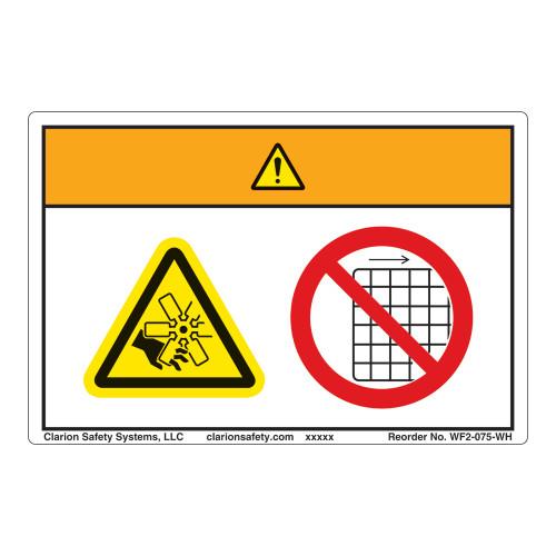 Warning/Rotating Fan Blade Label (WF2-075-WH)