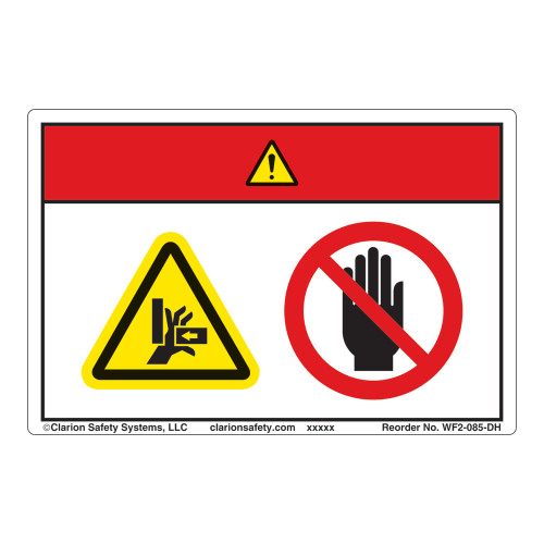 Danger/Entanglement Hazard Label (WF2-085-DH)