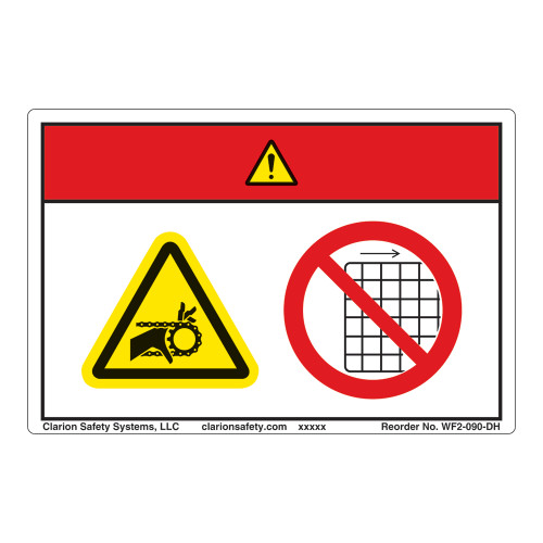 Danger/Entanglement Hazard Label (WF2-090-DH)
