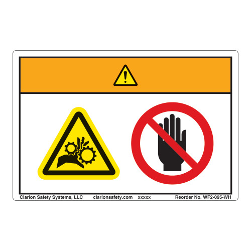 Warning/Entanglement Hazard Label (WF2-095-WH)