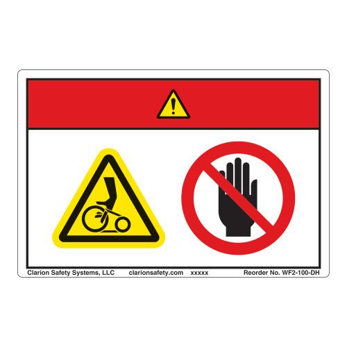 Danger/Entanglement Hazard Label (WF2-100-DH)