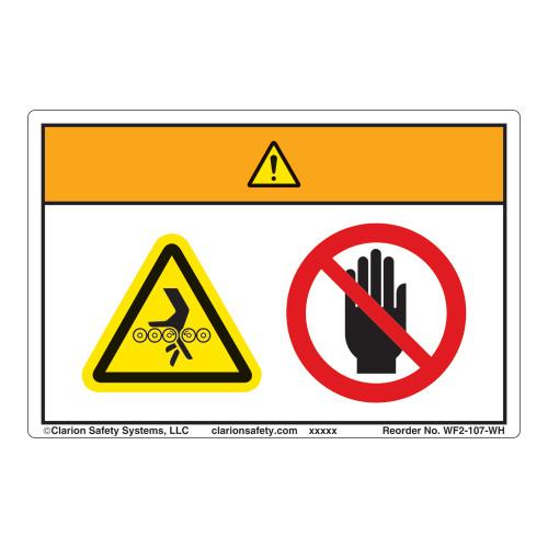Warning/Entanglement Hazard Label (WF2-107-WH)