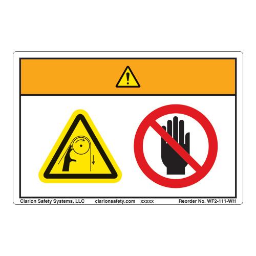 Warning/Entanglement Hazard Label (WF2-111-WH)
