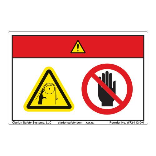 Danger/Entanglement Hazard Label (WF2-112-DH)