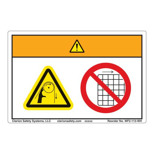 Warning/Entanglement Hazard Label (WF2-113-WH)
