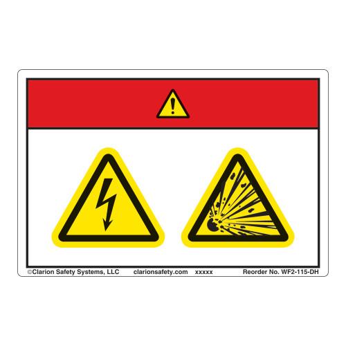 Danger/Electric Shock Hazard Label (WF2-115-DH)