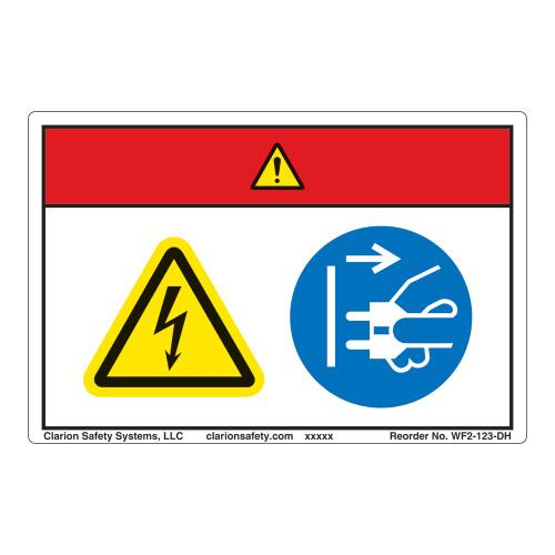 Danger/Hazardous Voltage Label (WF2-123-DH)