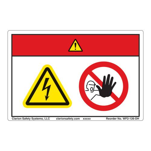 Danger/Hazardous Voltage Label (WF2-126-DH)