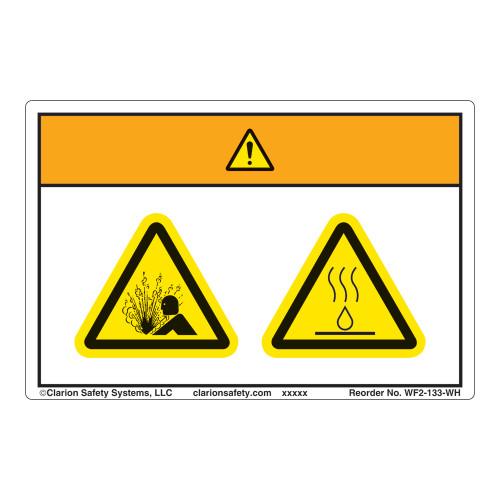 Warning/Pressurized Device Label (WF2-133-WH)