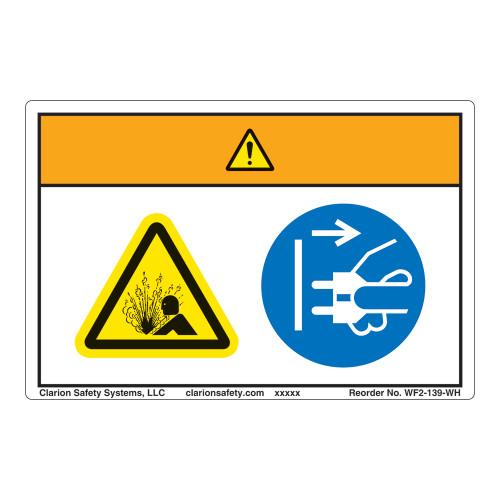 Warning/Pressurized Device Label (WF2-139-WH)