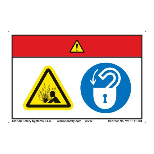 Danger/Pressurized Device Label (WF2-141-DH)
