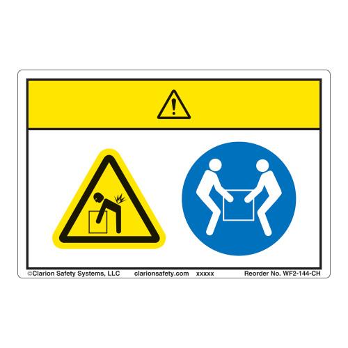 Caution/Lift Hazard Label (WF2-144-CH)