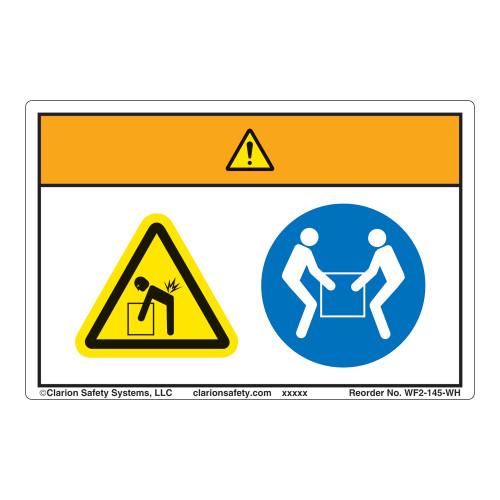 Warning/Lift Hazard Label (WF2-145-WH)
