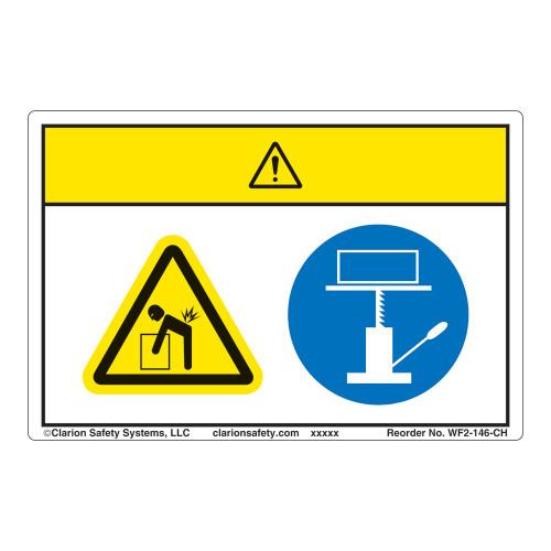 Caution/Lift Hazard Label (WF2-146-CH)