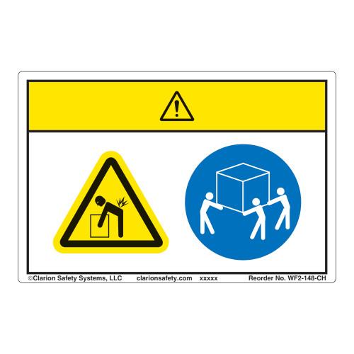 Caution/Lift Hazard Label (WF2-148-CH)
