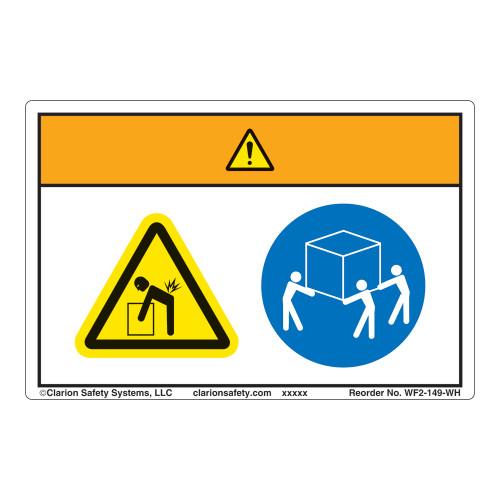 Warning/Lift Hazard Label (WF2-149-WH)