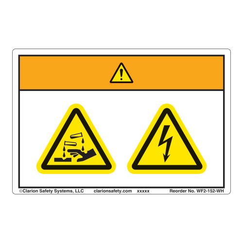 Warning/Chemical Hazard Label (WF2-152-WH)