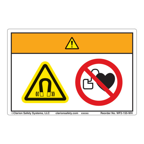 Warning/Magnetic Fields Label (WF2-155-WH)