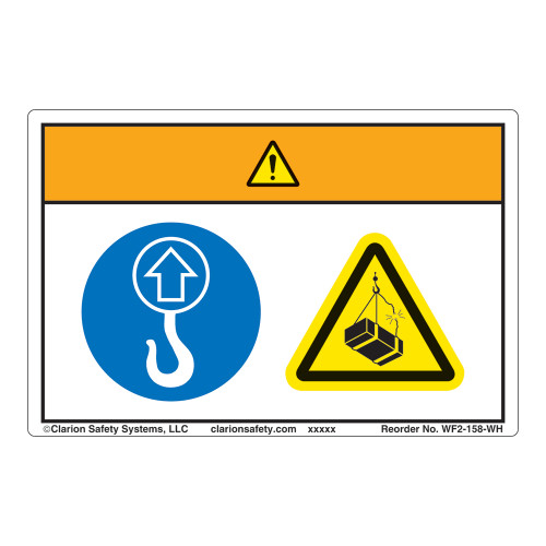 Warning/Lift Point Label (WF2-158-WH)