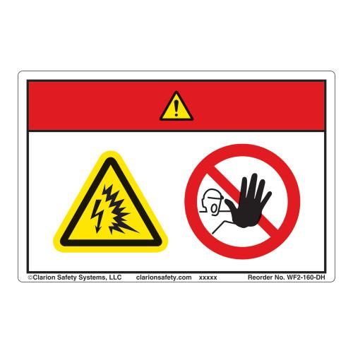 Danger/Arc Flash and Shock Hazard Label (WF2-160-DH)