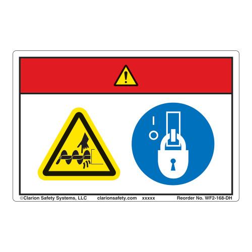 Danger/Cut Hazard Label (WF2-168-DH)