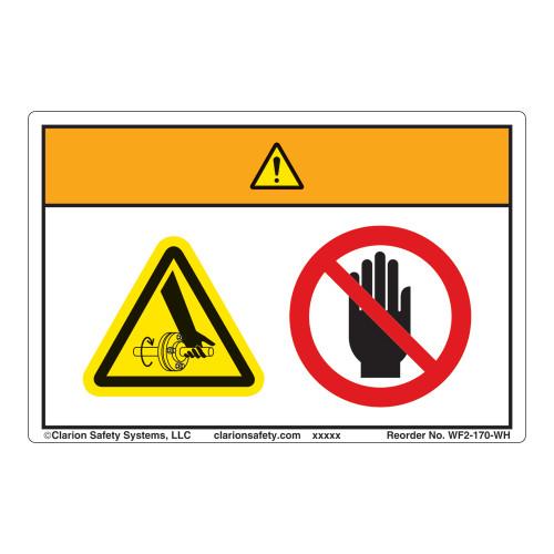 Warning/Entanglement Label (WF2-170-WH)