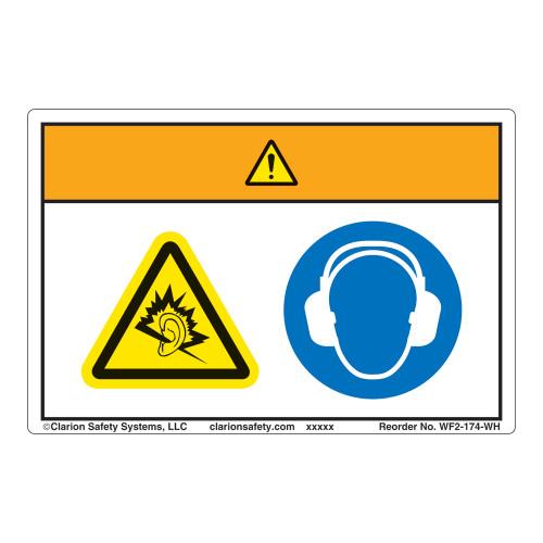 Warning/Noise Hazard Label (WF2-174-WH)