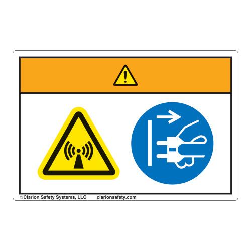 Warning/Radiation Hazard Label (WF2-179-WH)