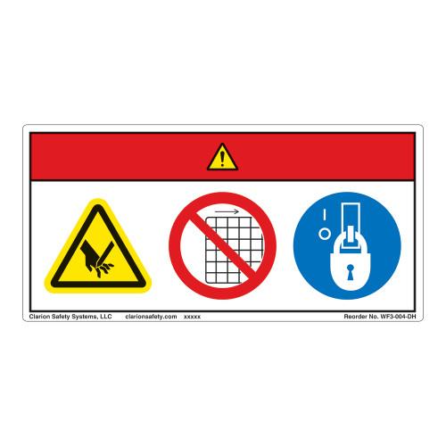 Danger/Blade Hazard Label (WF3-004-DH)