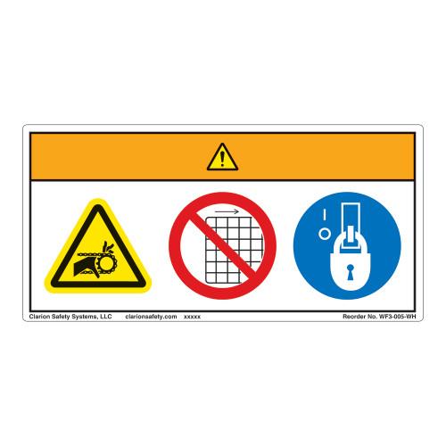 Warning/Entanglement Hazard Label (WF3-005-WH)