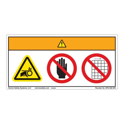 Warning/Entanglement Hazard Label (WF3-006-WH)