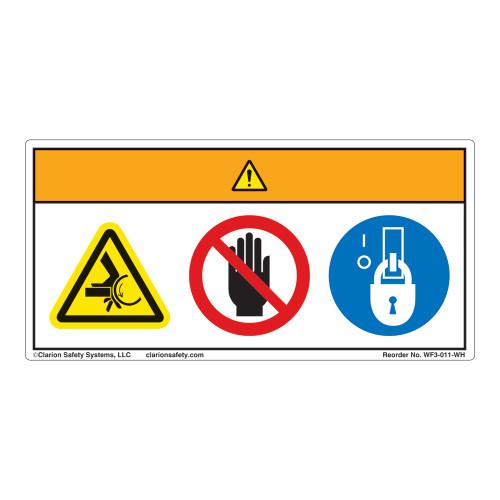 Warning/Crush Hazard Label (WF3-011-WH)