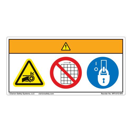 Warning/Entanglement Hazard Label (WF3-013-WH)