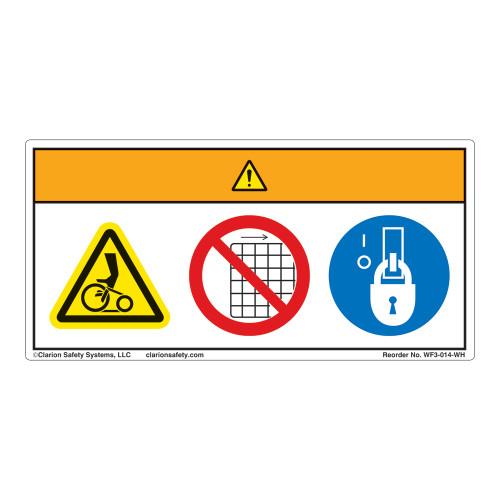 Warning/Entanglement Hazard Label (WF3-014-WH)