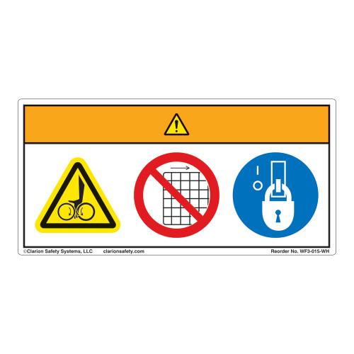 Warning/Entanglement Hazard Label (WF3-015-WH)