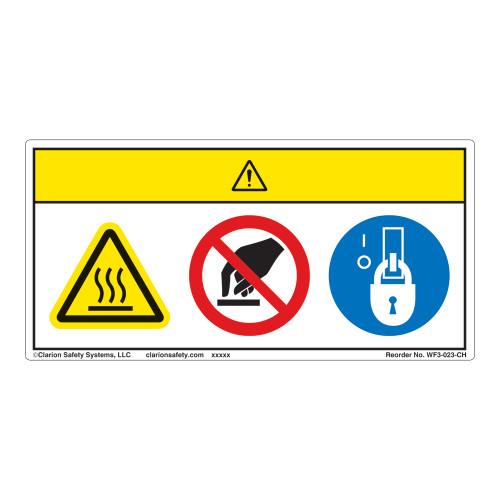 Caution/Hot Surface Label (WF3-023-CH)