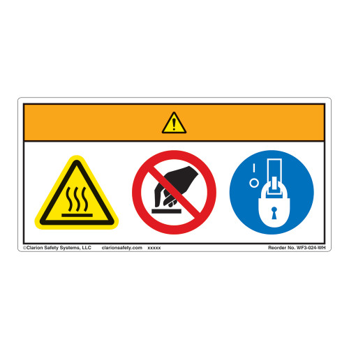 Warning/Hot Surface Label (WF3-024-WH)
