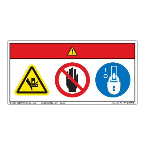 Danger/Crush Hazard Label (WF3-027-DH)